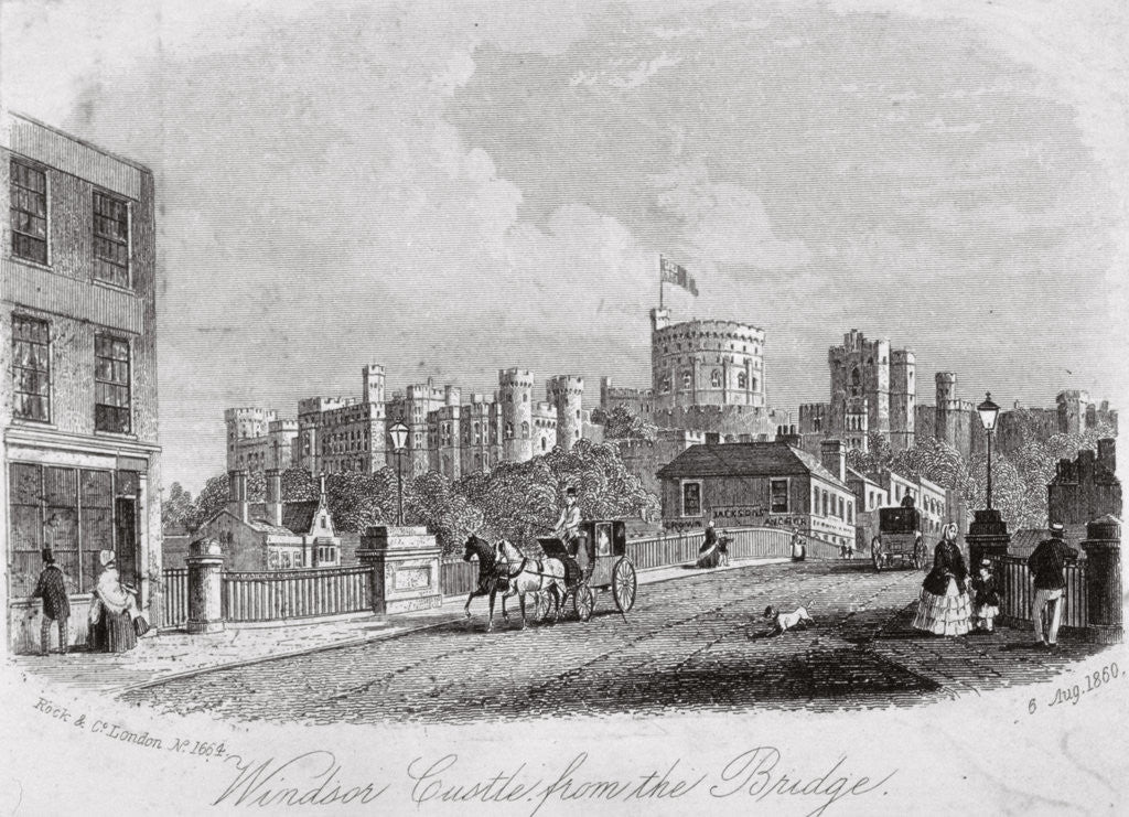 Detail of Windsor Castle, Berkshire, from the bridge by Anonymous