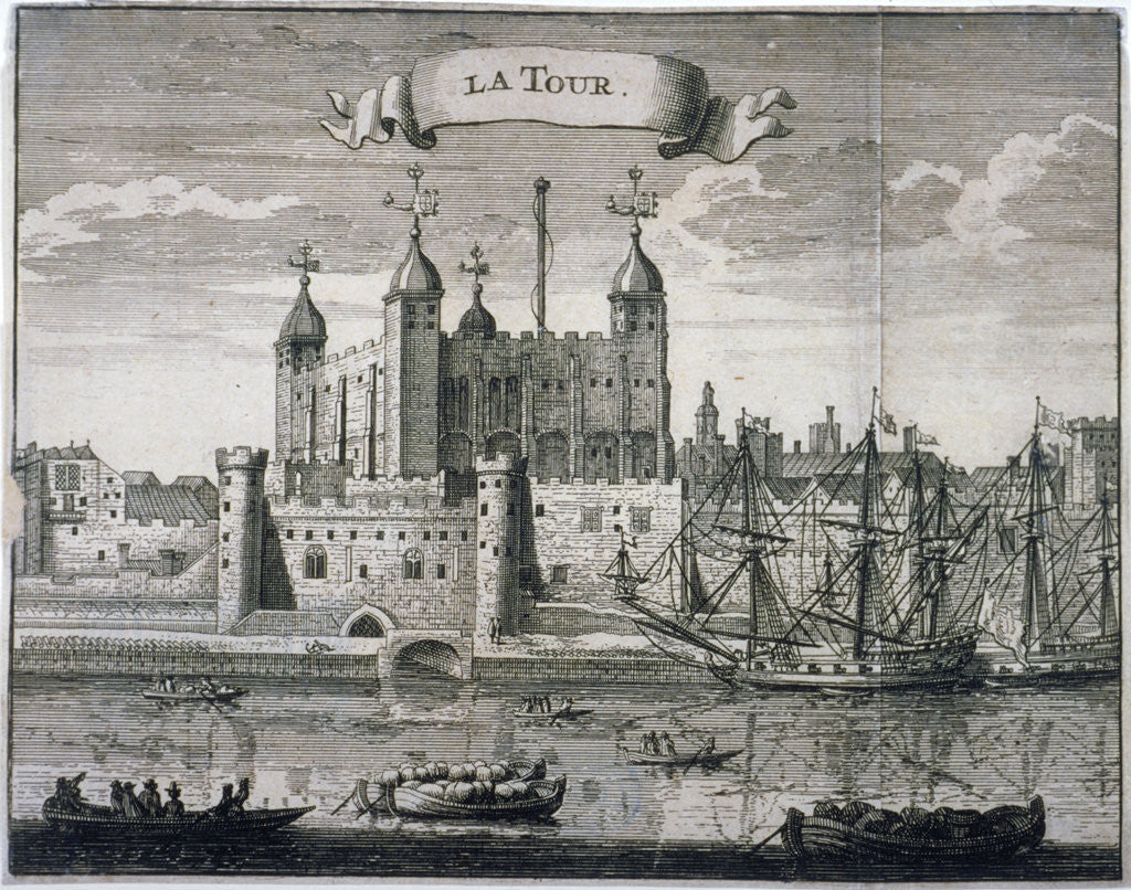 Detail of Tower of London, c1699(?) by