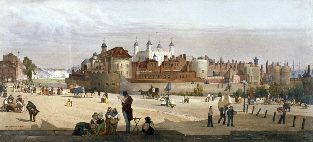 Detail of Tower of London by Thomas Shotter Boys