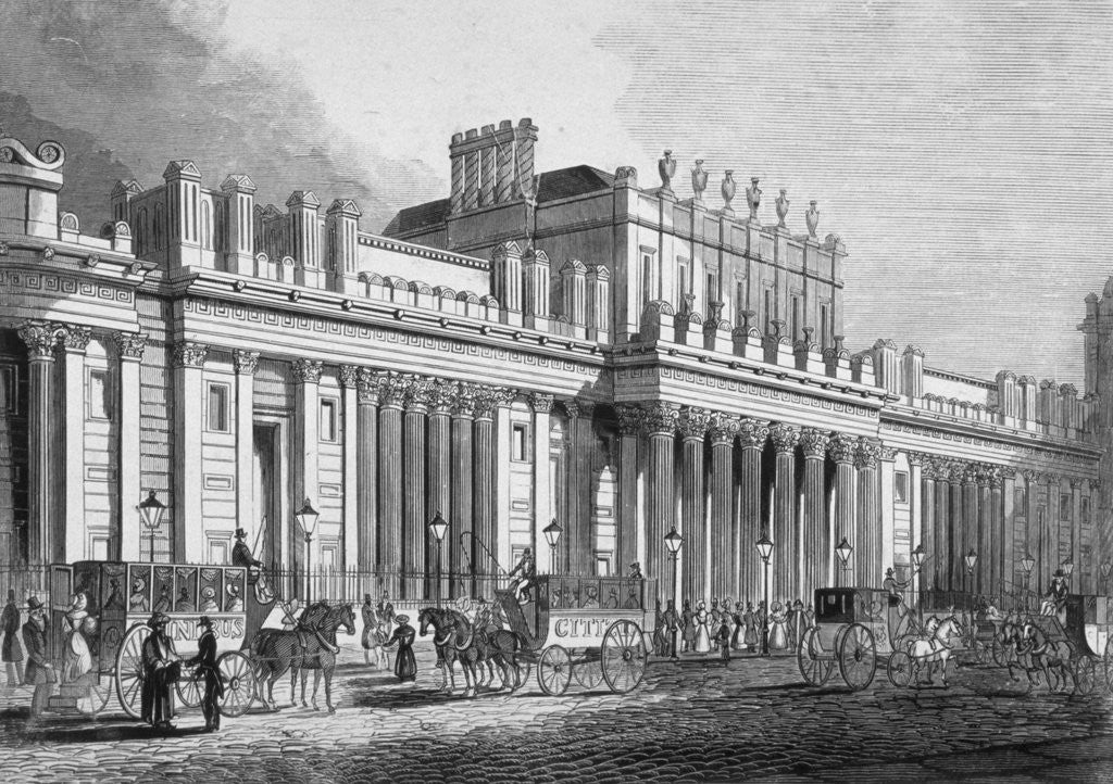 Detail of The south front of the Bank of England, City of London by