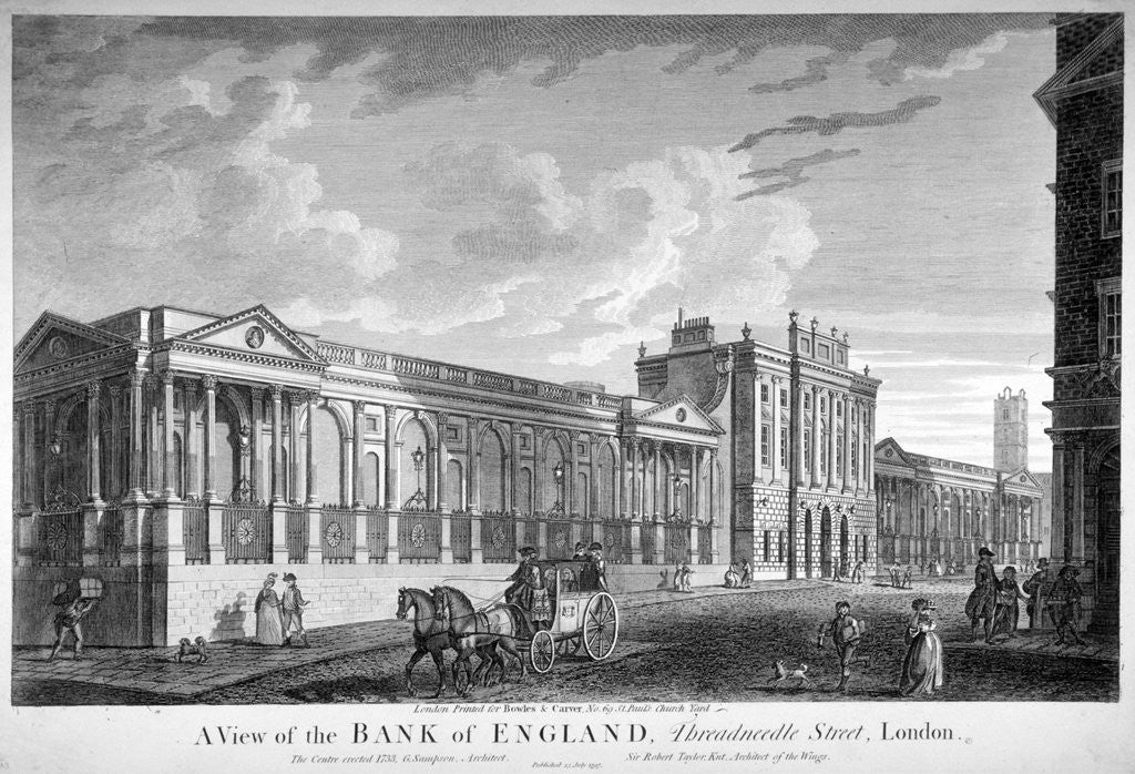 Detail of The Bank of England, City of London by Anonymous