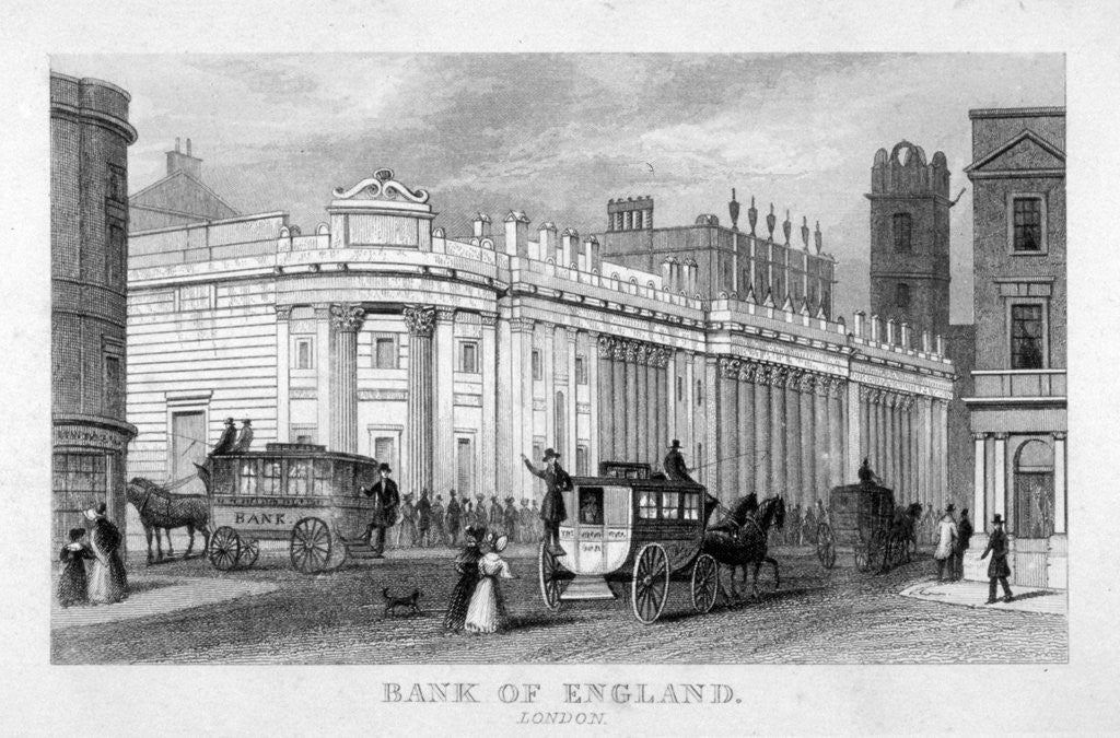 Detail of The Bank of England, City of London by