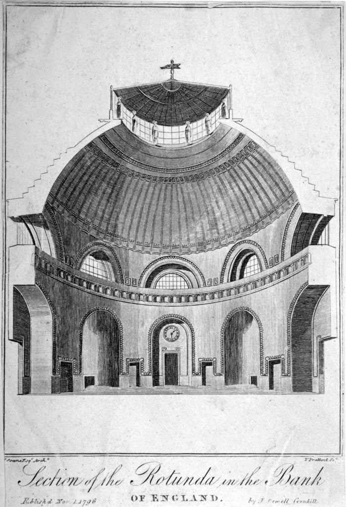 Detail of Section of the Rotunda at the Bank of England, City of London by Thomas Prattent