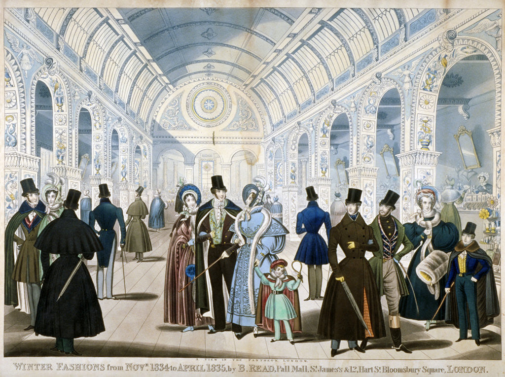 Detail of Winter Fashions from November 1834 to April 1835 by Anonymous