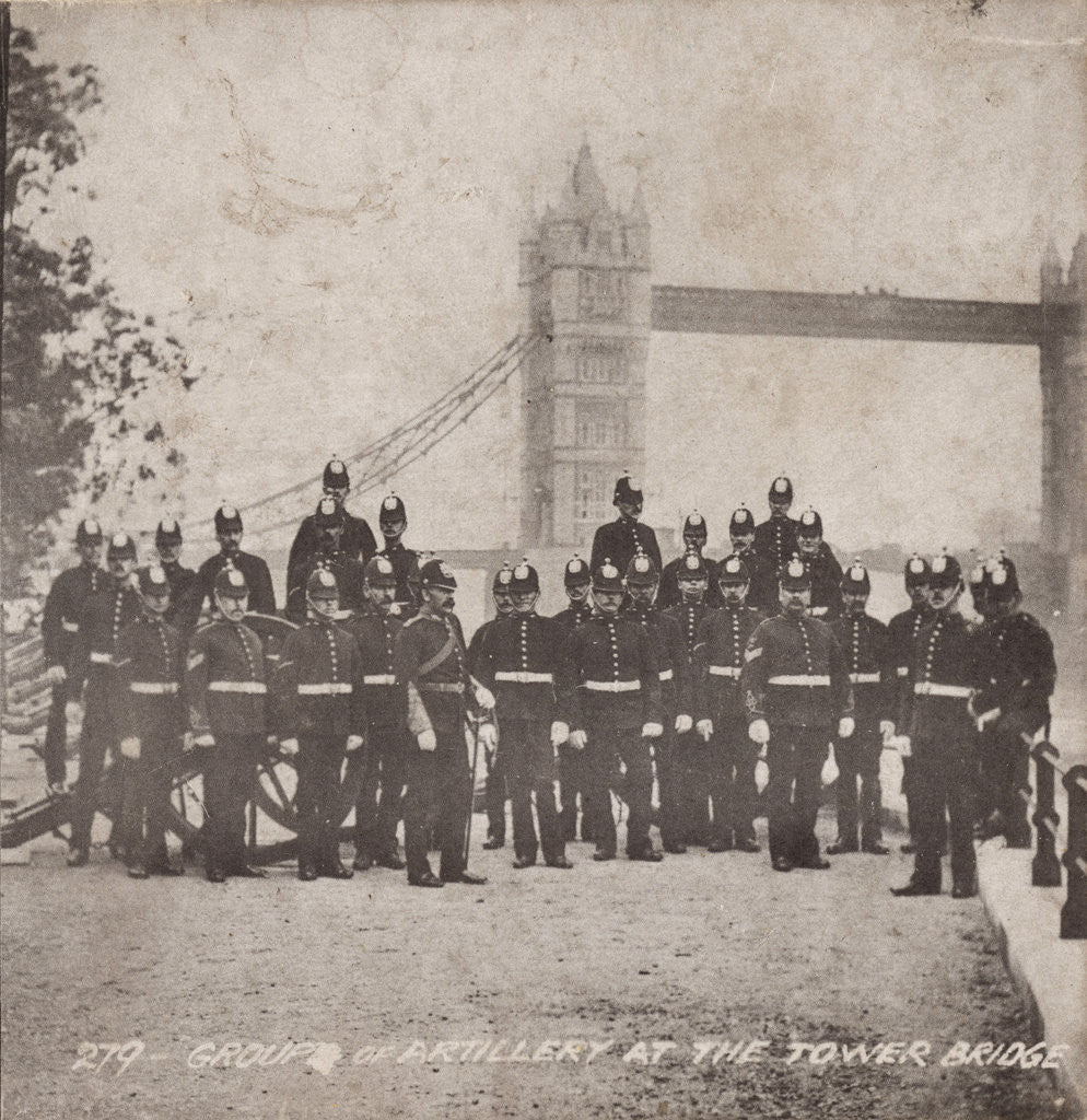 Detail of Group of artillery at Tower Bridge, London by Anonymous