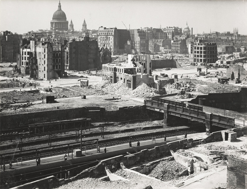 Detail of The Barbican area of the City of London, World War II by Anonymous
