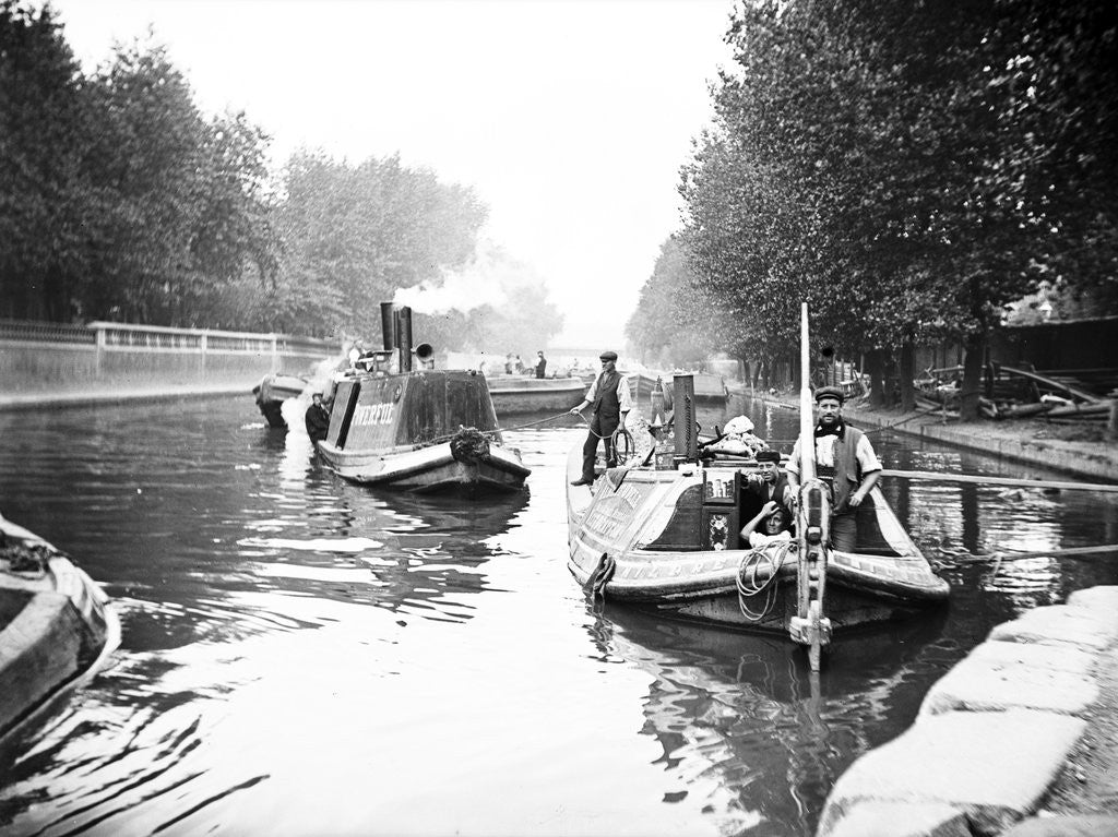 Detail of Boats on Regent's Canal, London by