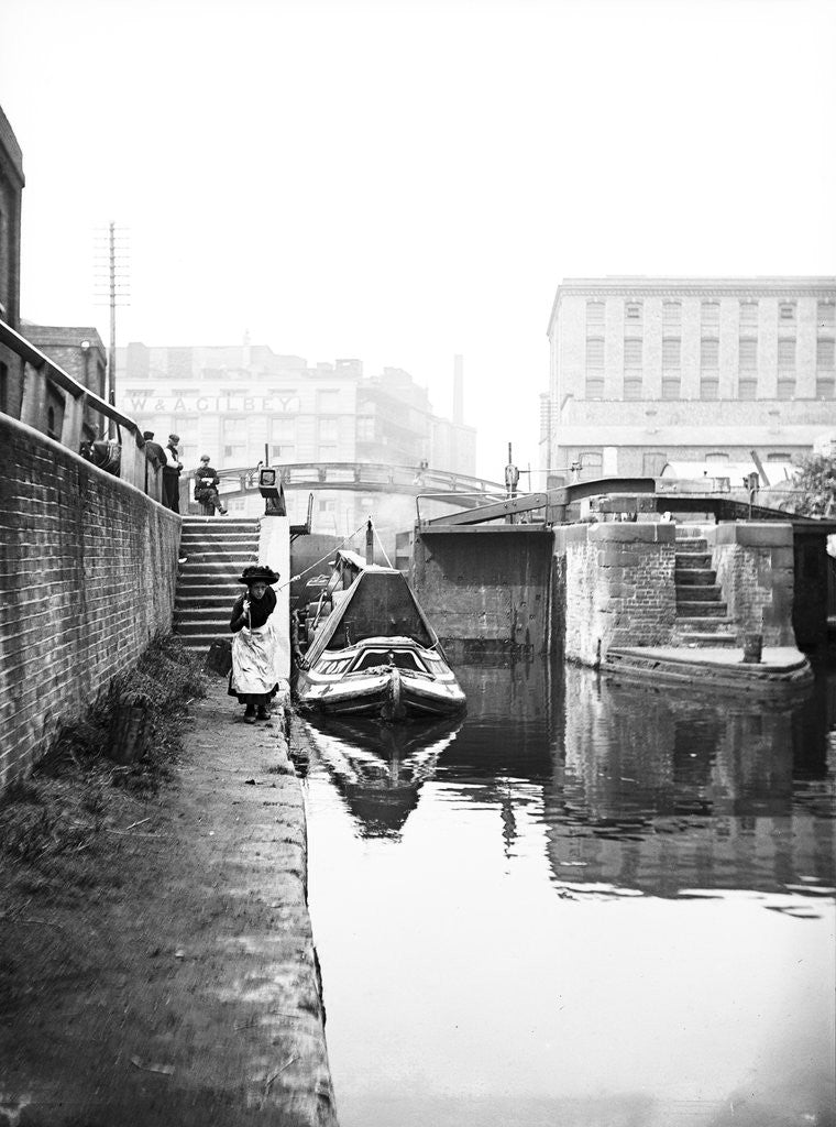 Detail of Regent's Canal at Hawley Lock, St Pancras, Camden, London by Anonymous