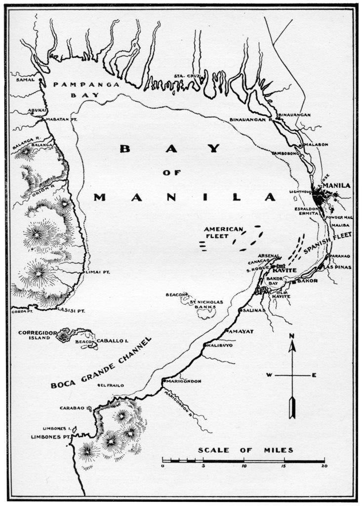 Spanish American War Philippines Map.Battle Of Manila Bay Philippines Spanish American War Posters