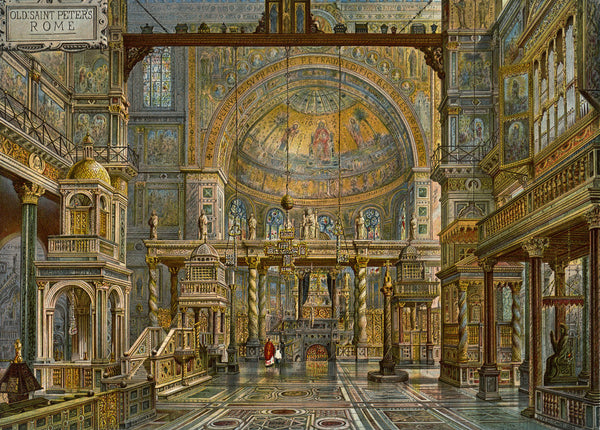 Restoration Of Old St Peter S Rome Posters Amp Prints By