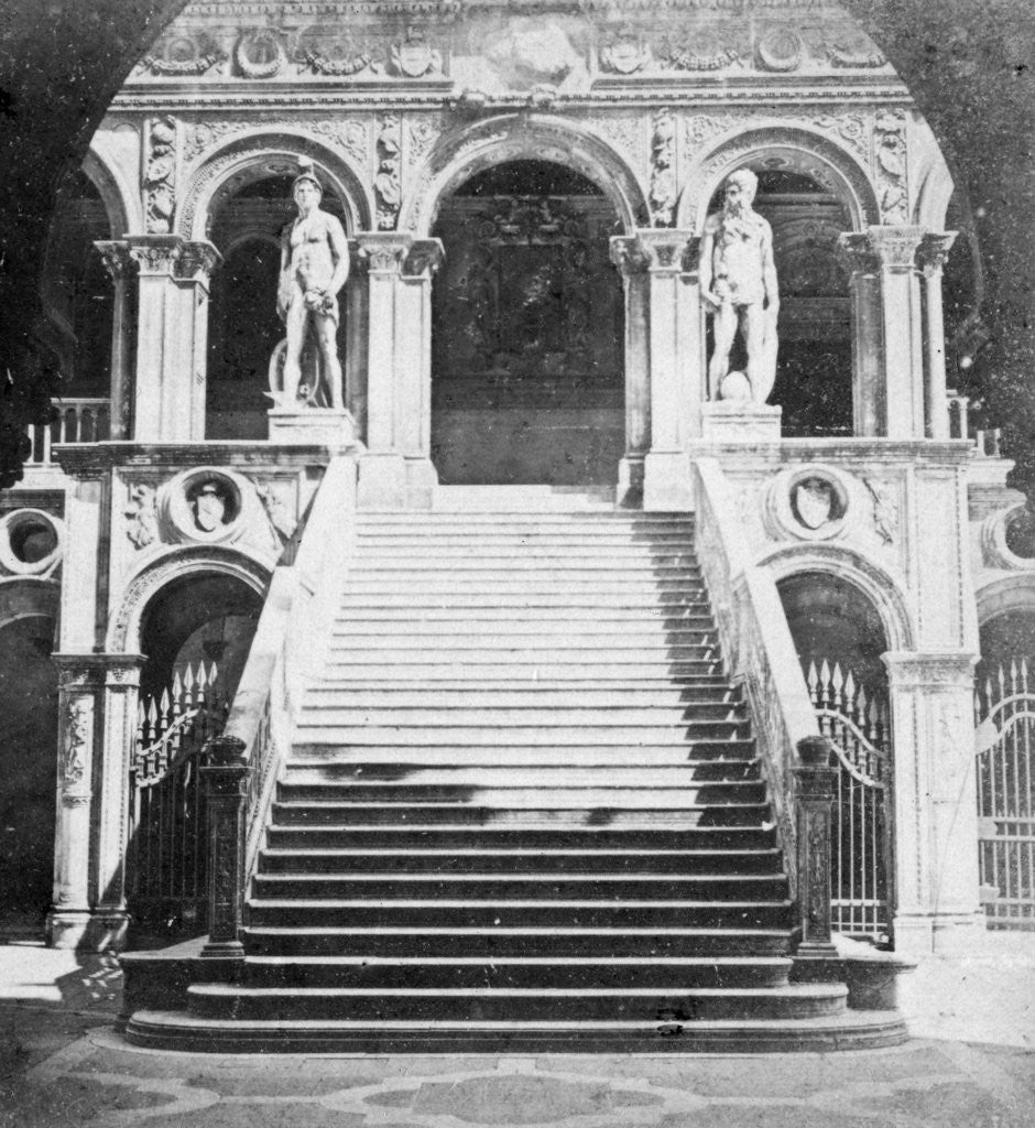 Detail of Giants' Staircase, Doge's Palace, Venice, Italy by Anonymous