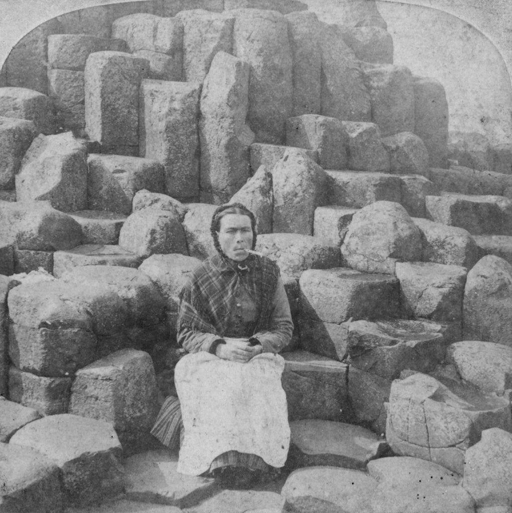 Detail of The Wishing Chair, Giant's Causeway, County Antrim, Ireland by Underwood & Underwood