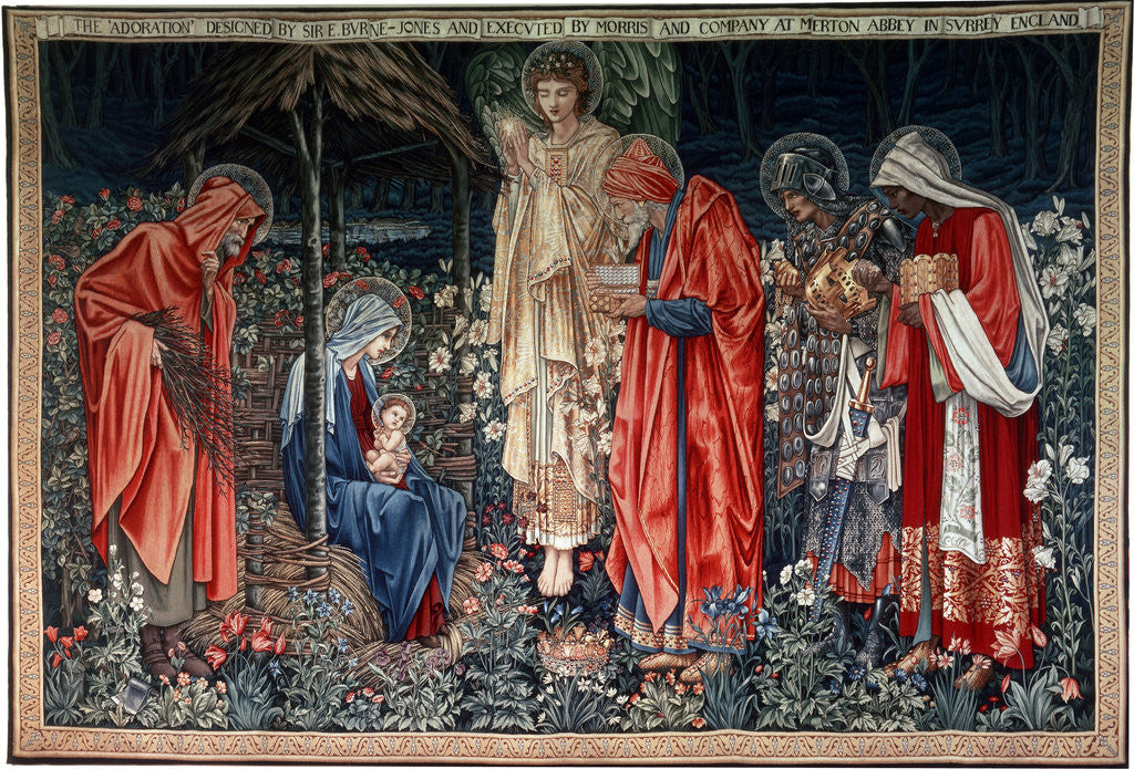 Detail of The Adoration of the Magi', tapestry by Morris & Co