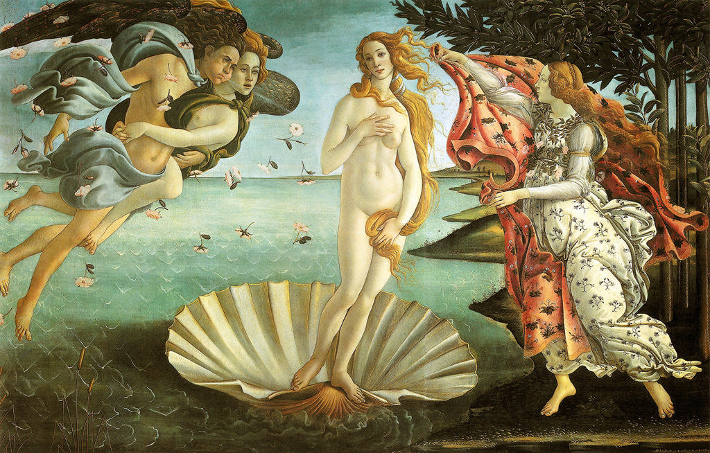 Detail of The Birth of Venus by Sandro Botticelli