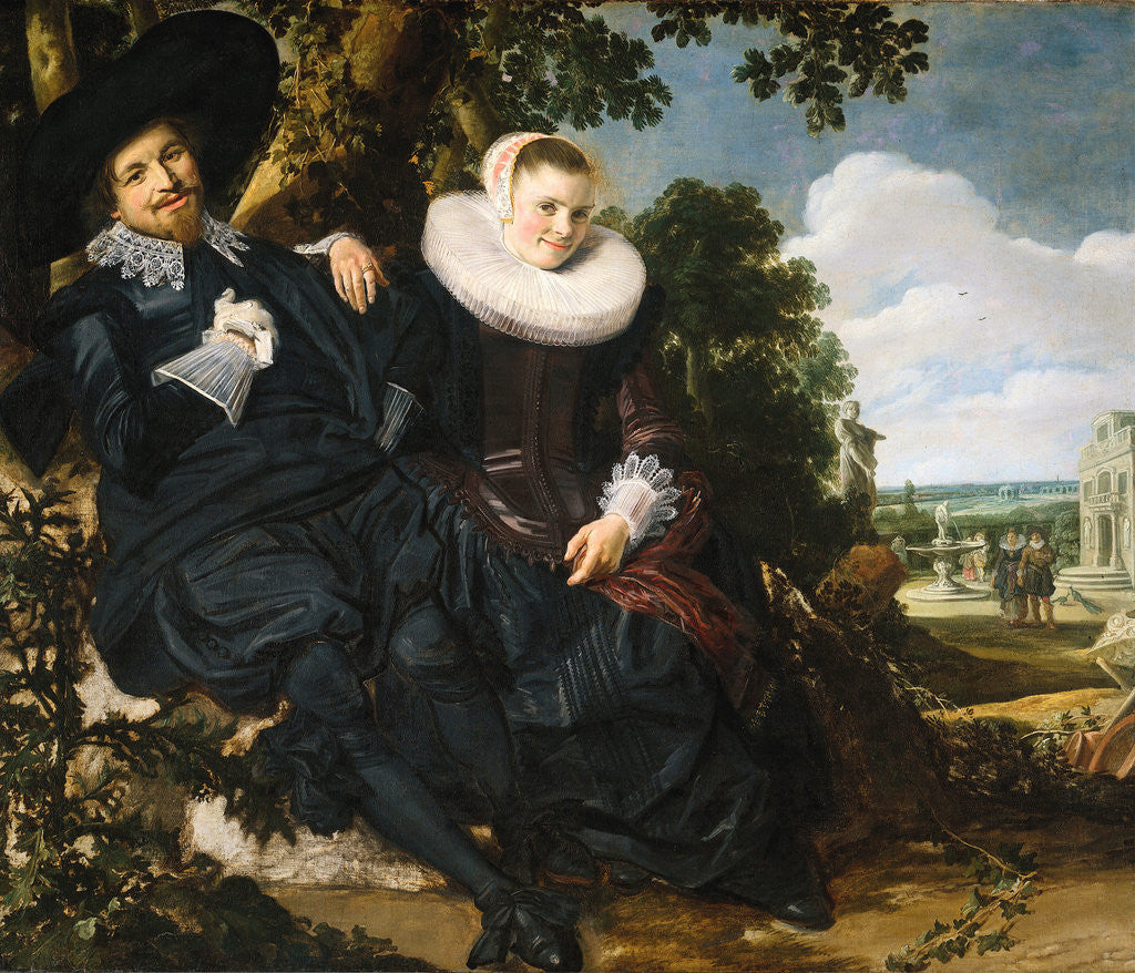 Detail of Marriage portrait of Isaac Abrahamsz Massa and Beatrix van der Laen by Frans Hals