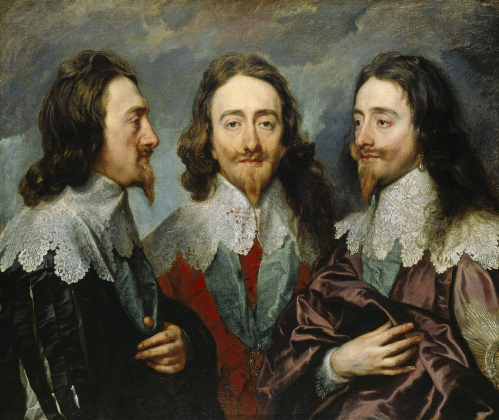 Detail of Charles I, King of England  (1600-1649), from Three Angles (The Triple Portrait), 1636. by Anonymous