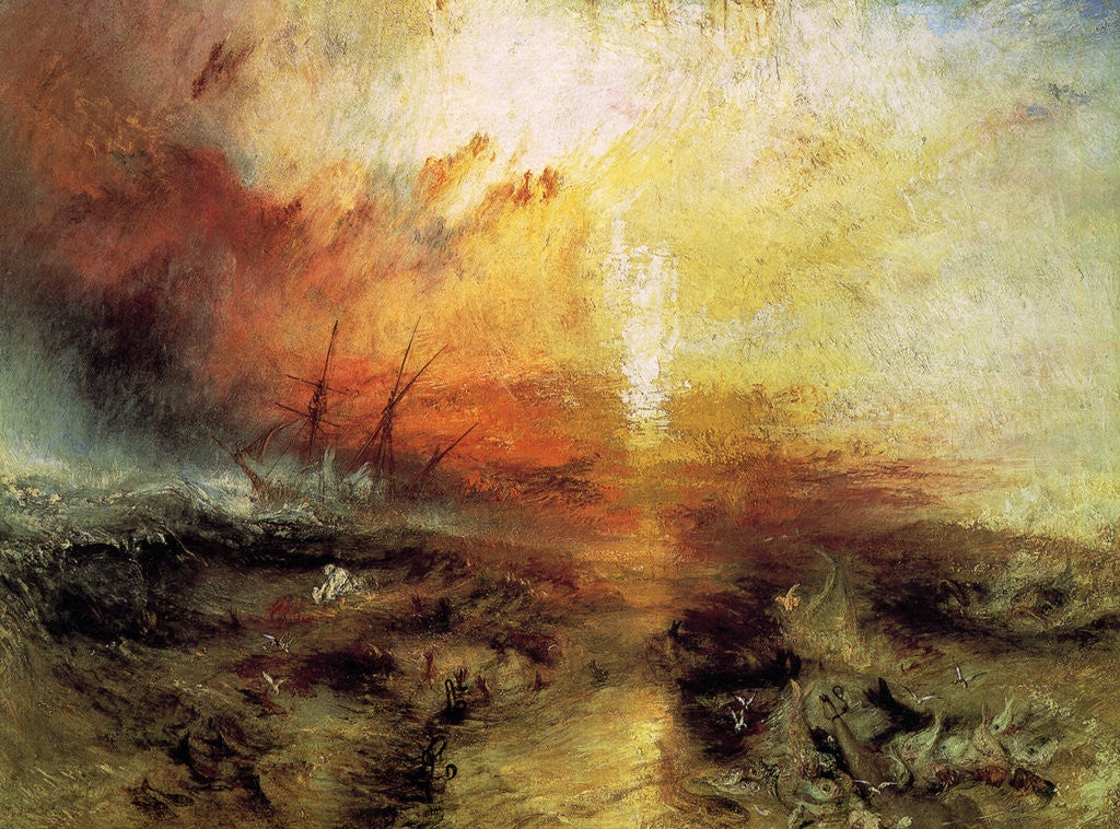 Detail of The Slave Ship (Slavers Throwing overboard the Dead and Dying, Typhon Coming On) by Joseph Mallord William Turner