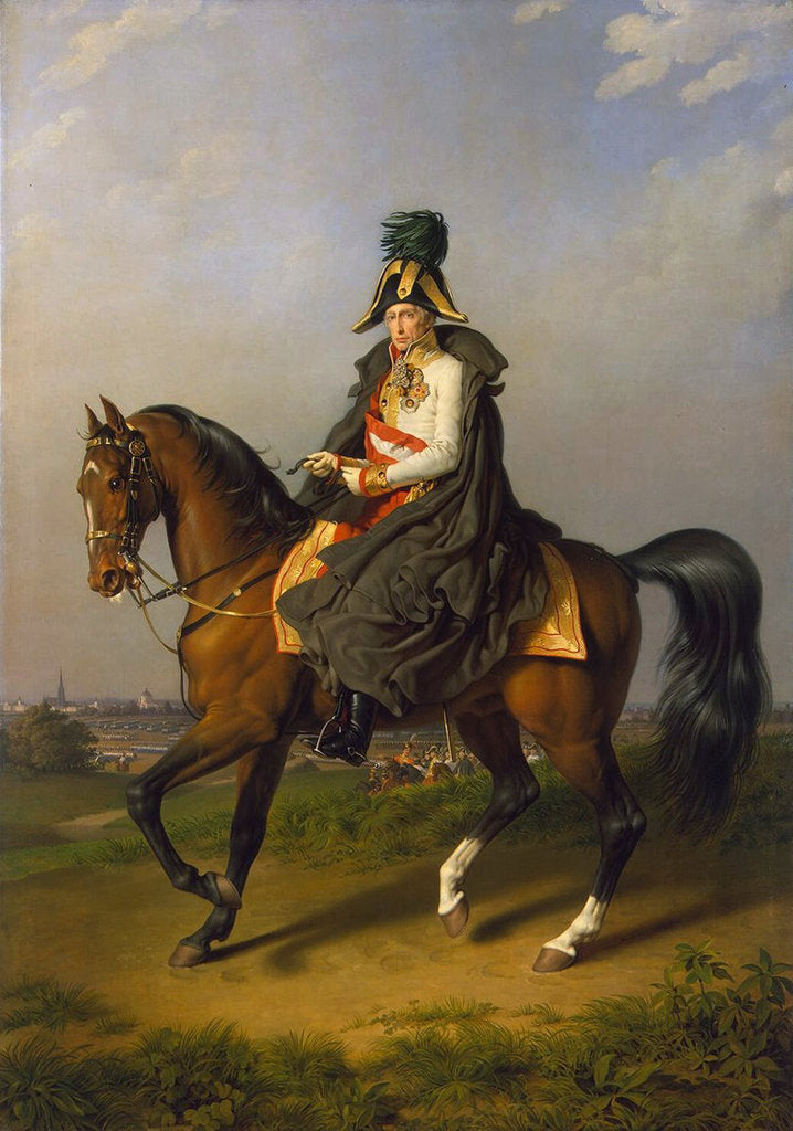 Detail of Equestrian Portrait of Holy Roman Emperor Francis II,, 1832 by Anonymous
