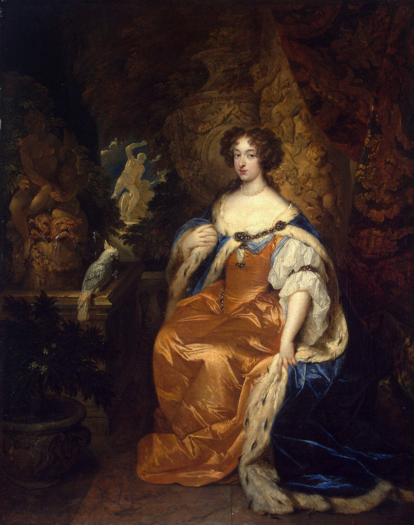 Detail of Portrait of Queen Mary II of England,, 1683 by Anonymous
