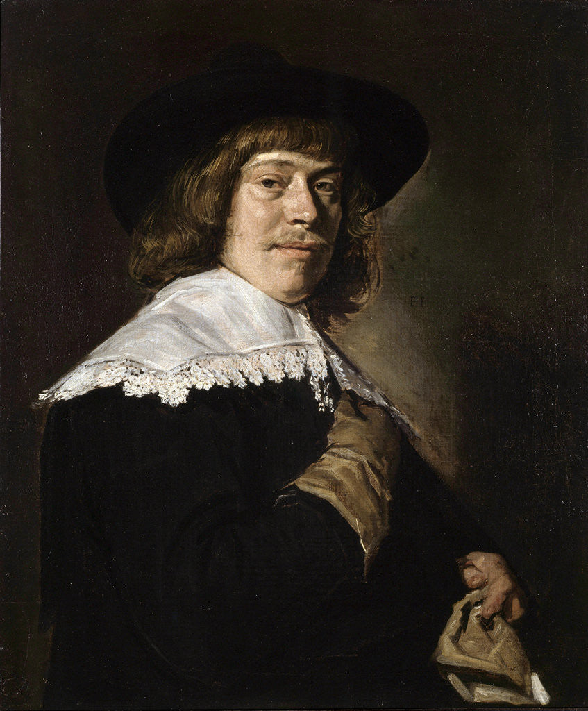 Detail of Portrait of a Young Man Holding a Glove by Frans Hals