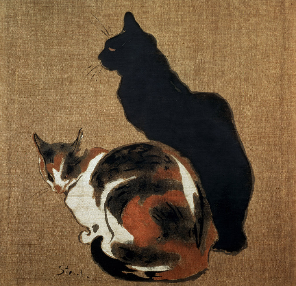 Detail of Two Cats by Theophile Alexandre Steinlen