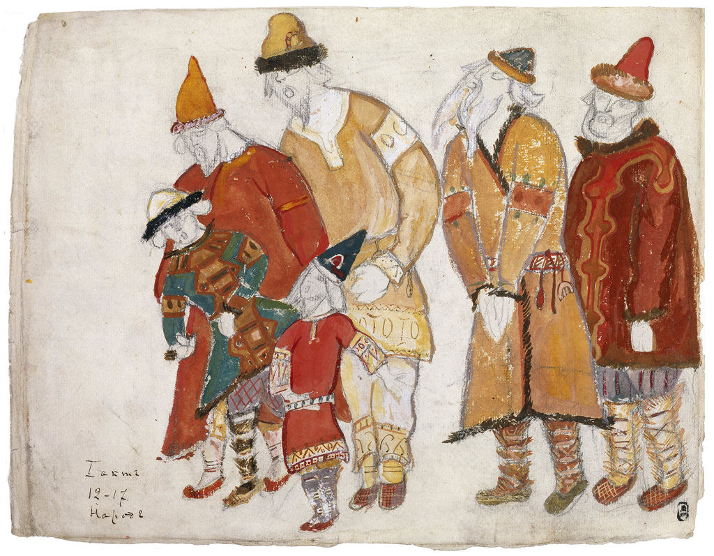 Detail of Peoples. Costume design for the opera Prince Igor by A. Borodin by Nicholas Roerich
