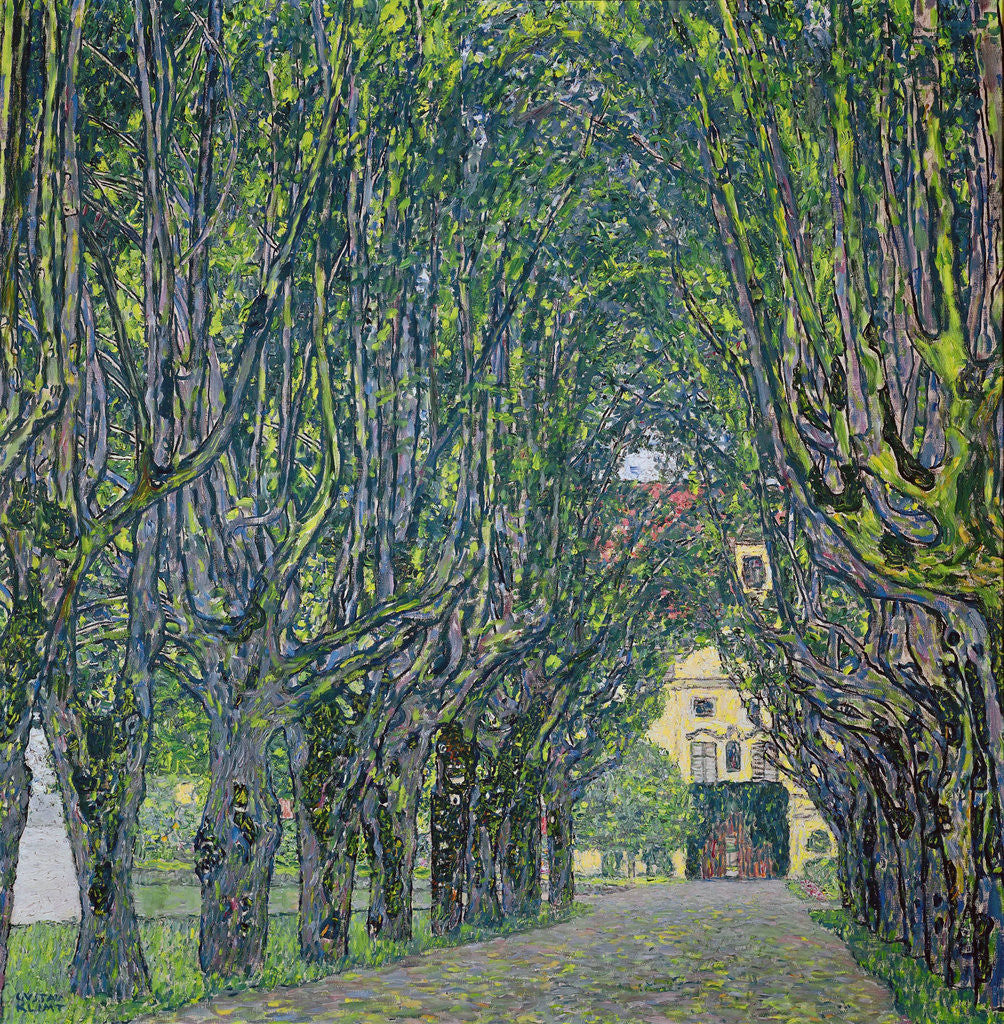 Detail of Avenue in the Park of Kammer Castle by Gustav Klimt