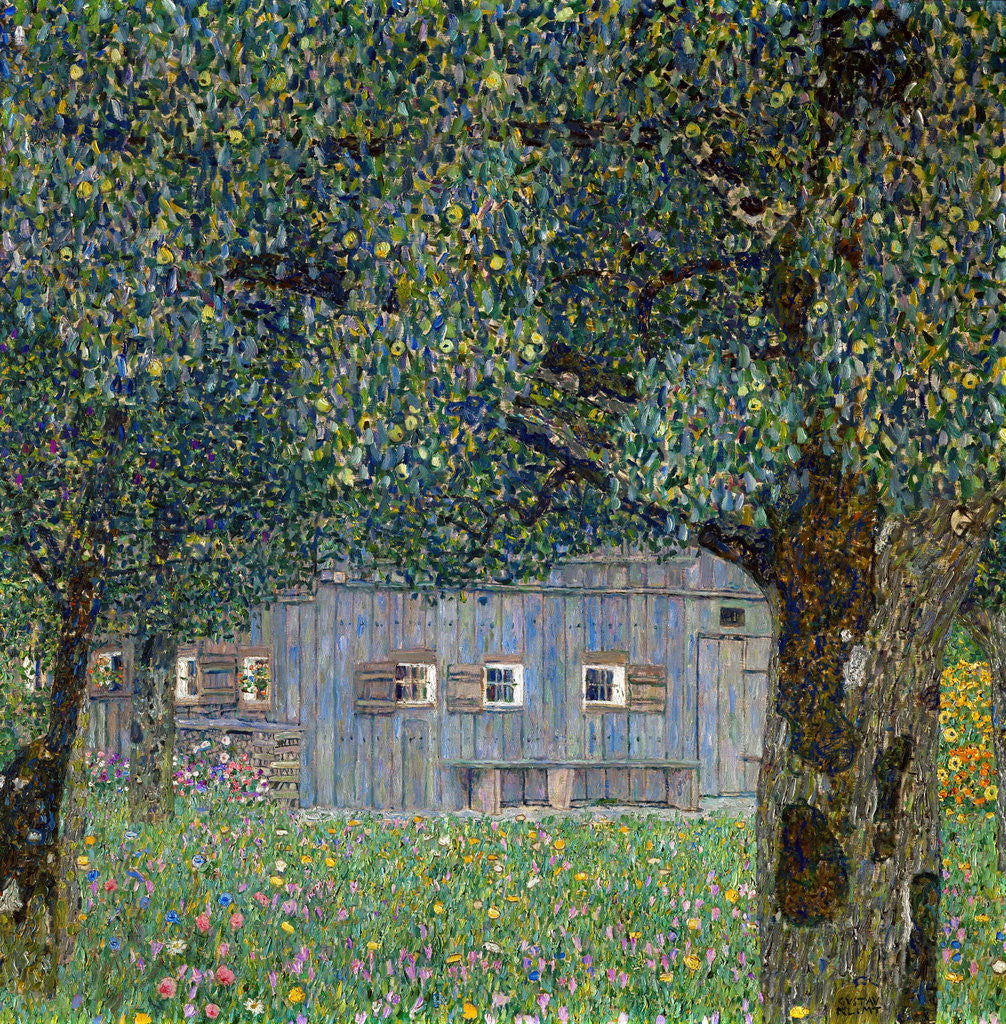Detail of Farm House in Buchberg by Gustav Klimt