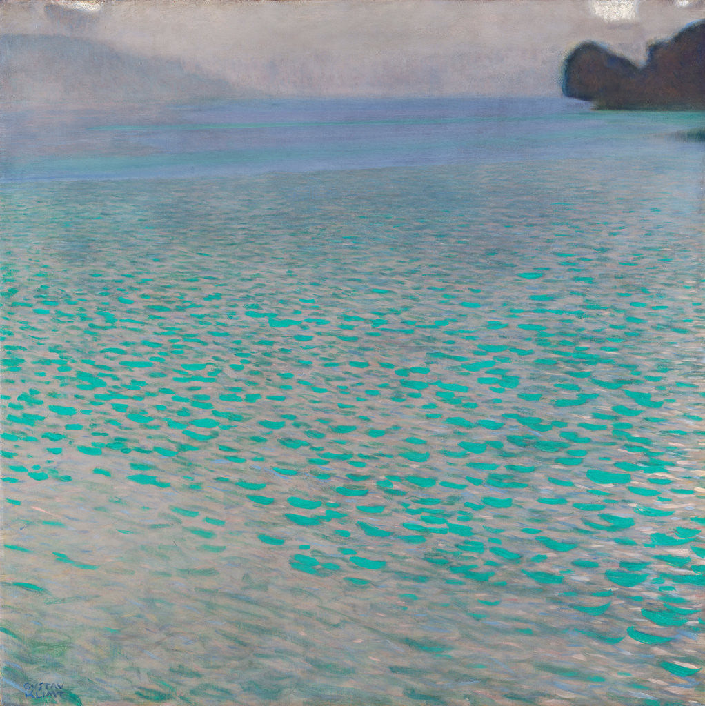 Detail of Lake Attersee by Gustav Klimt