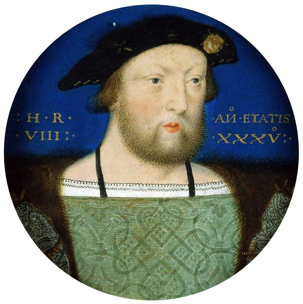 Detail of Portrait of King Henry VIII of England by Horenbout