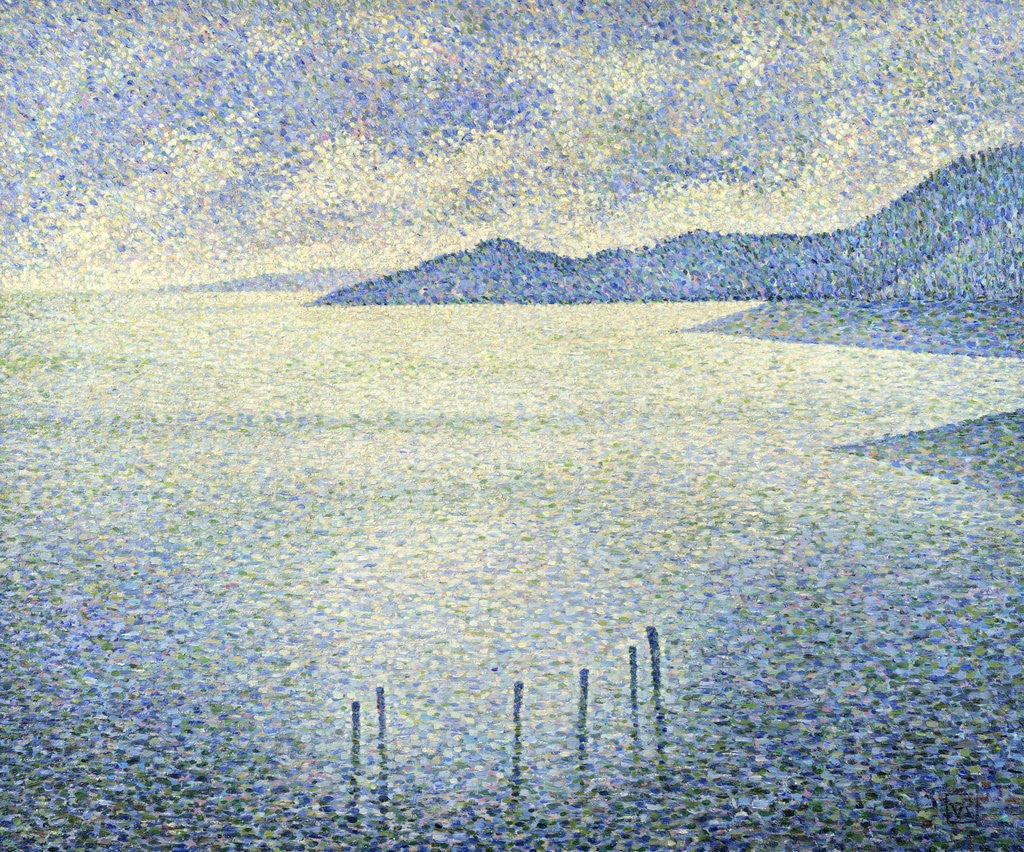 Detail of Coastal Scene by Theo van Rysselberghe