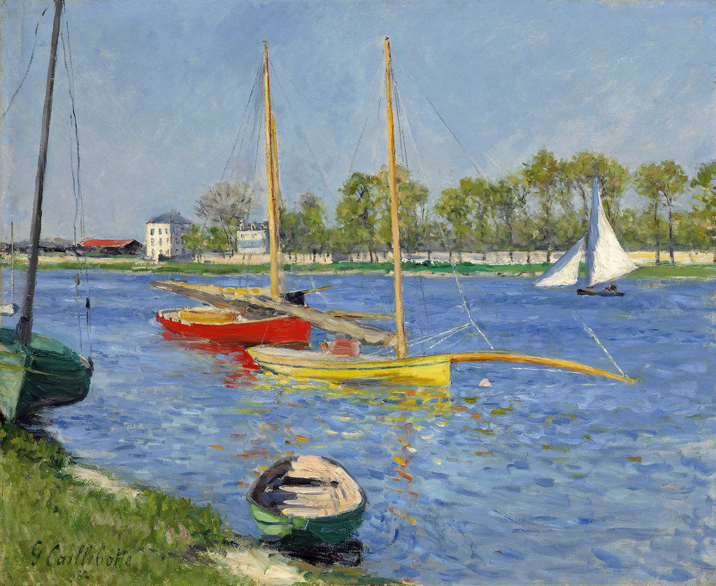 Detail of The Seine at Argenteuil by Gustave Caillebotte