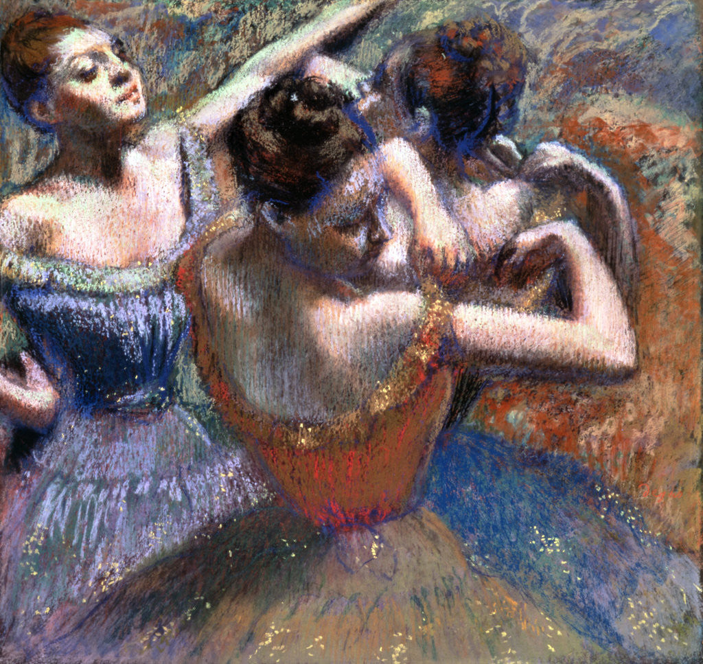 Detail of The Dancers by Edgar Degas