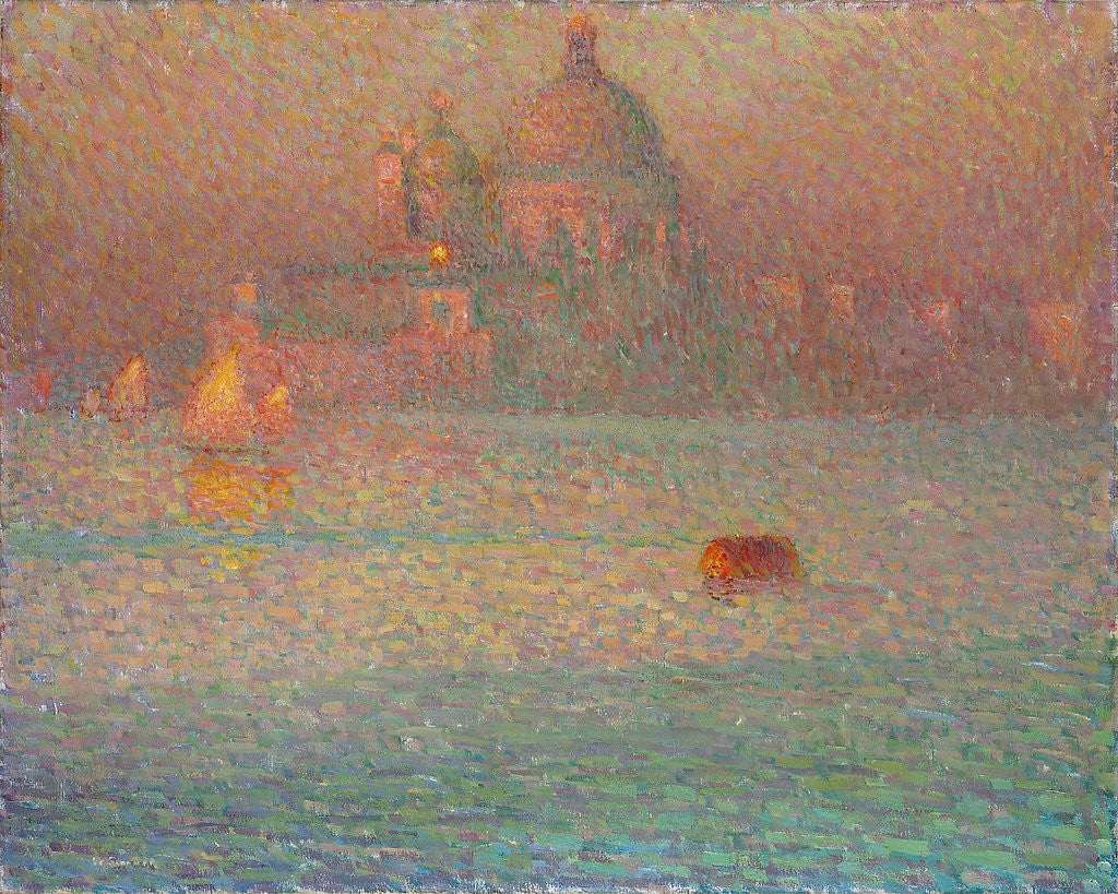 Detail of Fireworks. Winter Morning in Venice by Henri Le Sidaner