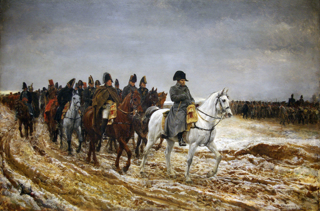 Detail of 1814. Campagne de France (French Campaign) by Ernest Jean Louis Meissonier