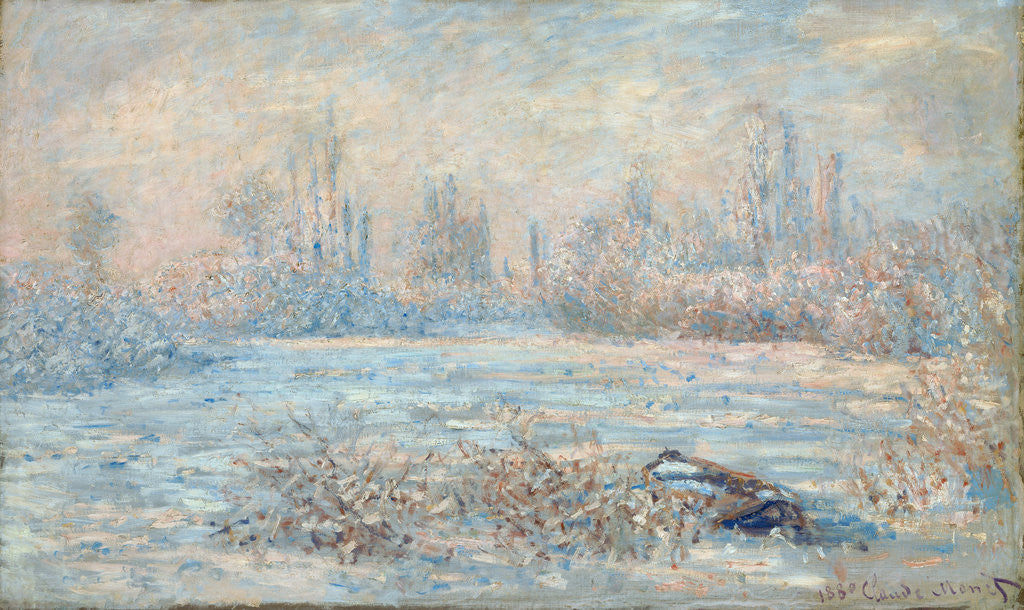Detail of Frost by Claude Monet