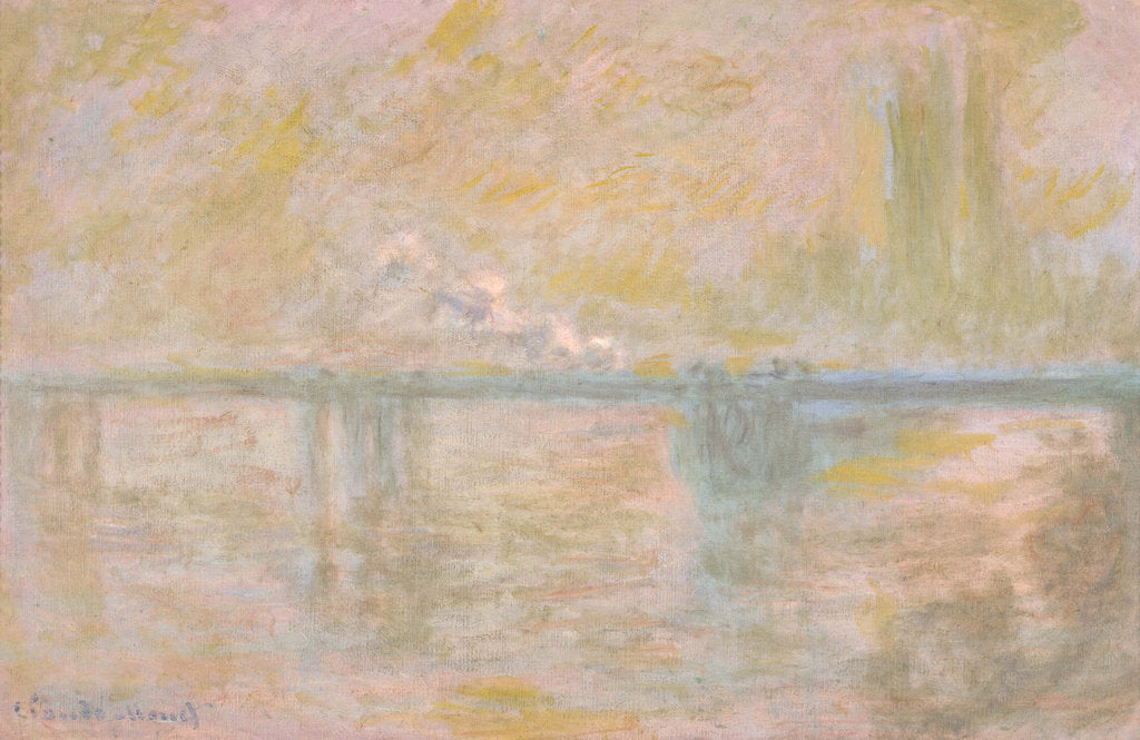 Detail of Charing-Cross Bridge in London, c. 1902 by Claude Monet