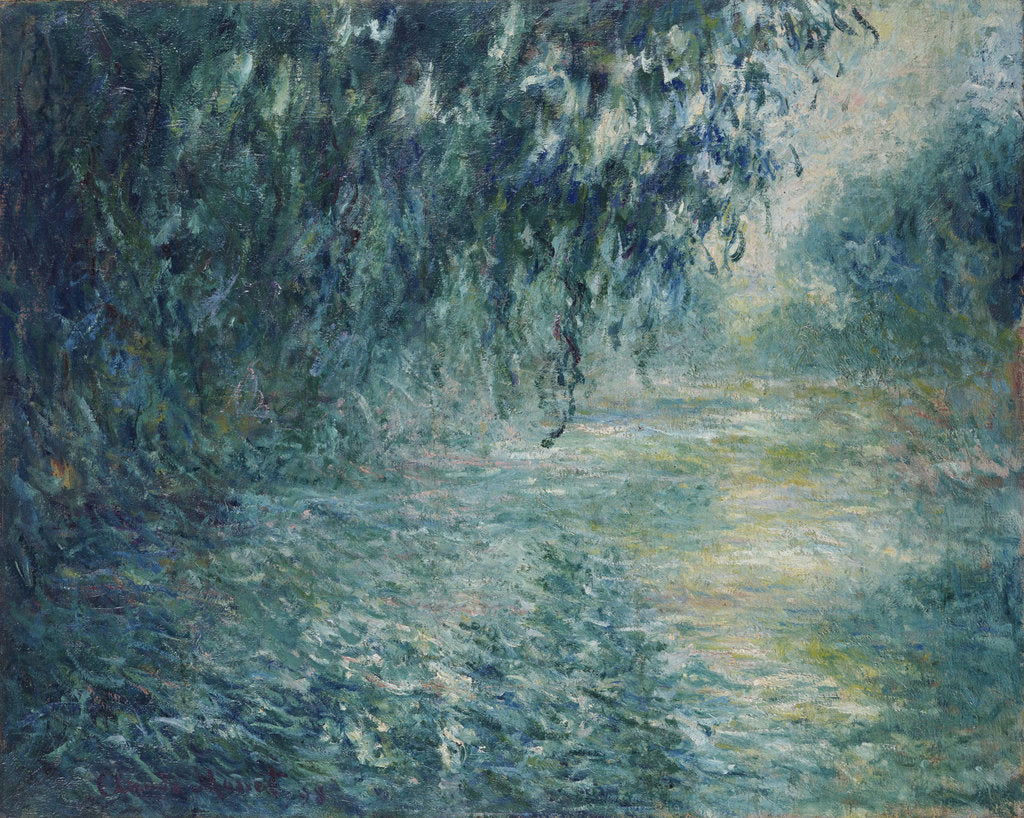 Detail of Morning on the Seine, 1898 by Claude Monet