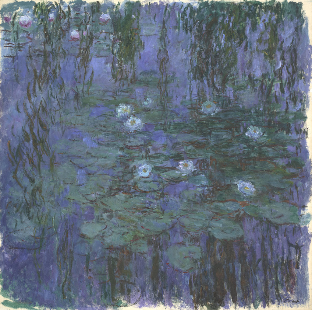 Detail of Blue Water Lilies, 1916-1919 by Claude Monet