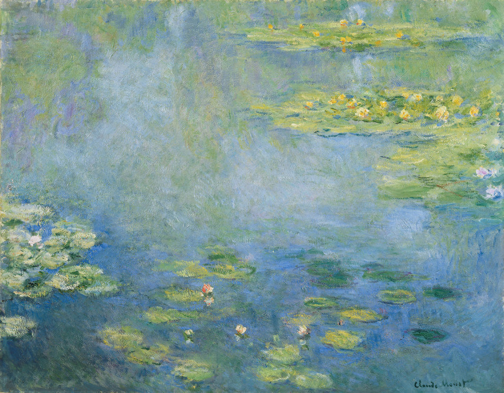 Detail of Water Lilies by Claude Monet
