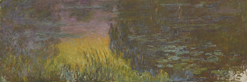 Detail of The Water Lilies - Setting Sun, 1914-1926 by Claude Monet