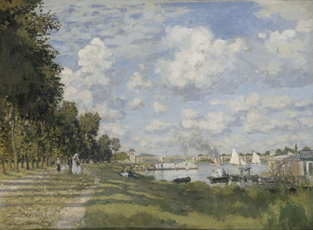 Detail of Le bassin dArgenteuil, 1872 by Claude Monet