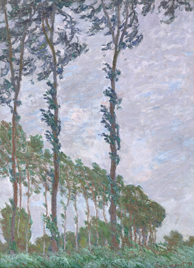 Detail of Wind Effect, Series of The Poplars, 1891 by Claude Monet