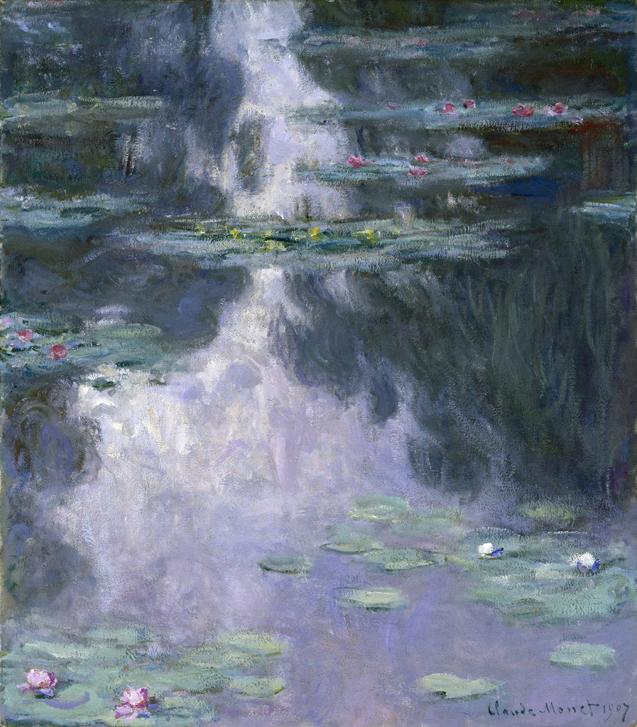 Detail of Water Lilies (Nymphéas), 1907 by Claude Monet