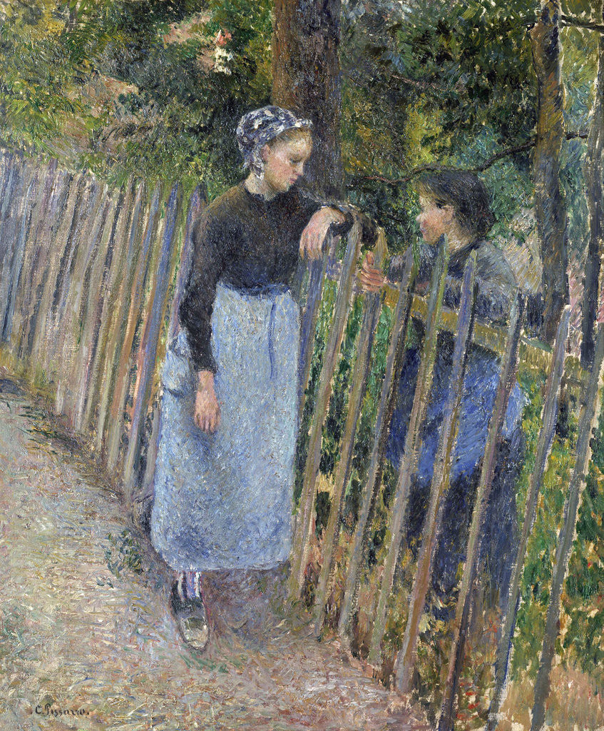 Detail of Conversation by Camille Pissarro
