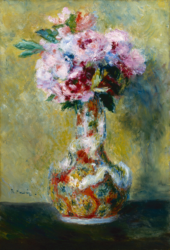 Detail of Bouquet in a Vase by Pierre-Auguste Renoir