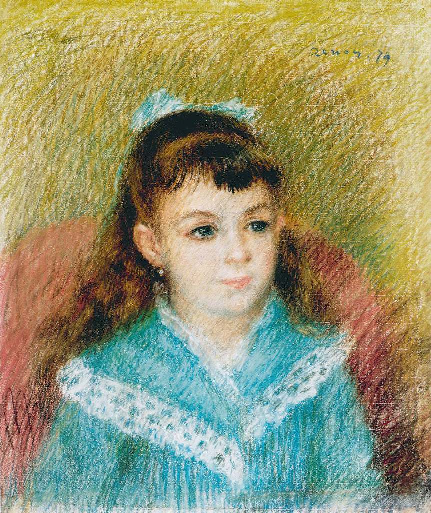Detail of Portrait of a Young Girl (Elisabeth Maître) by Pierre-Auguste Renoir