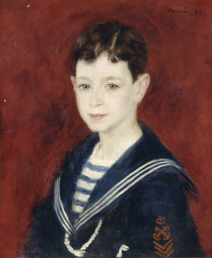 Detail of Fernand Halphen as a Boy by Pierre-Auguste Renoir