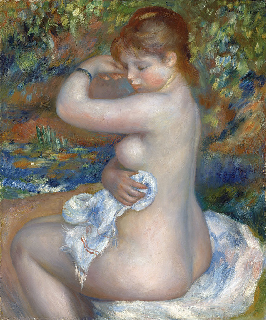 Detail of Baigneuse by Pierre-Auguste Renoir