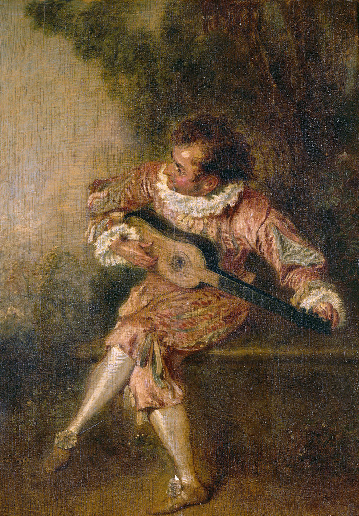 Detail of Mezzetino by Jean Antoine Watteau